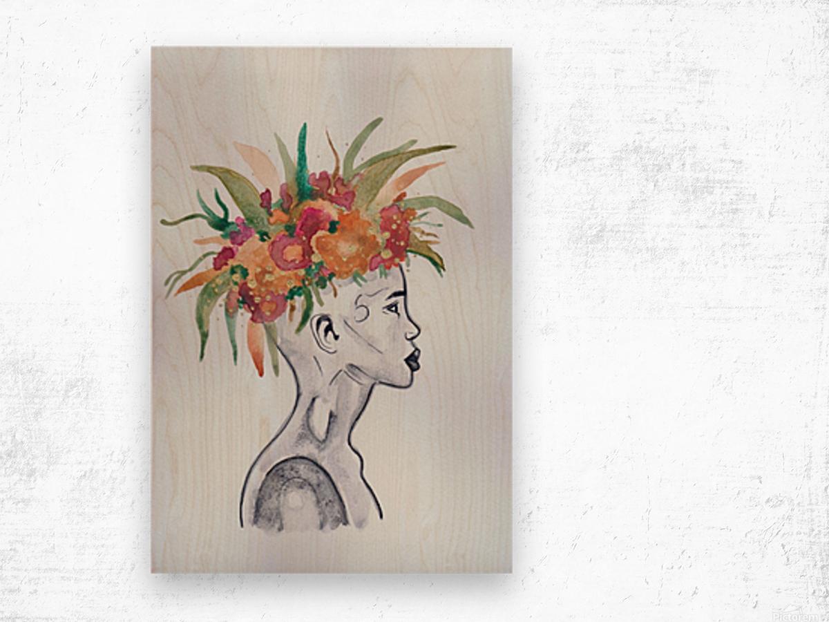 Crowned  Wood print