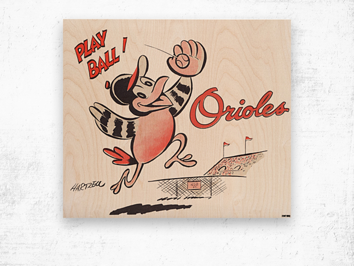 1960 Baltimore Orioles Art Wood print