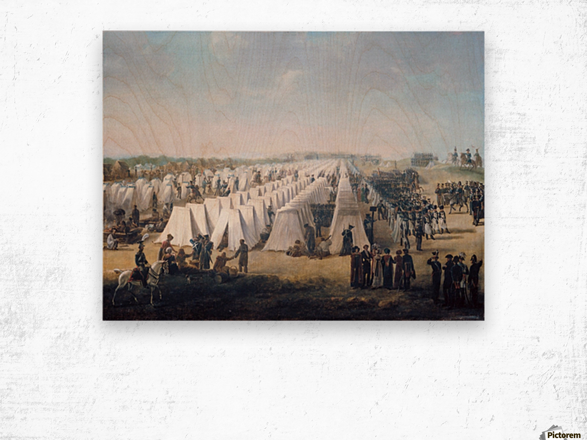 Army Camp in Rows 1831 Wood print