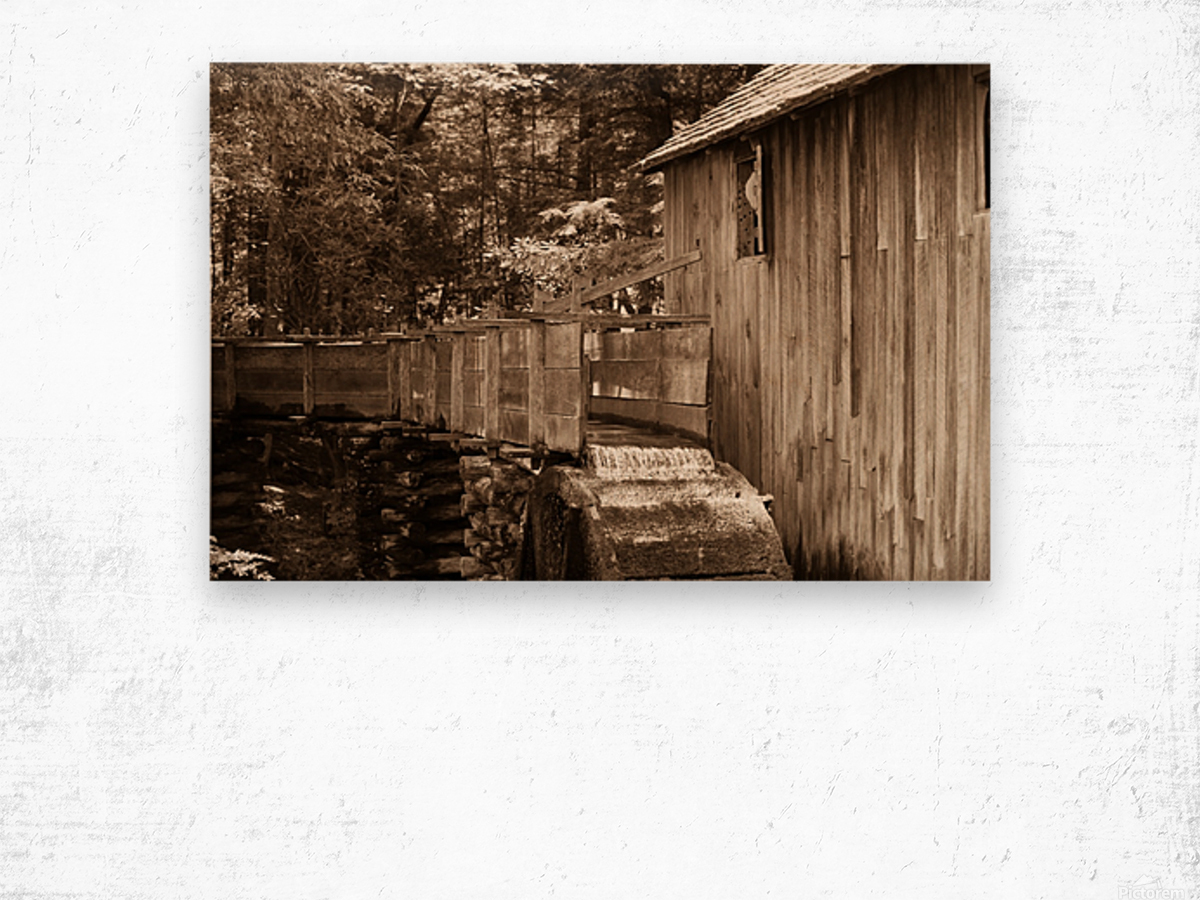The John Cable Grist Mill Wood print