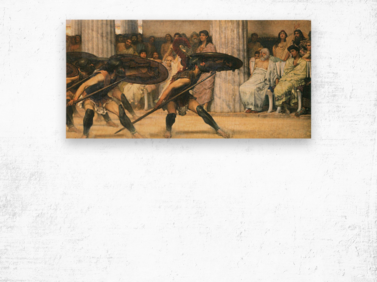 A dance for Phyrrus by Alma-Tadema Wood print
