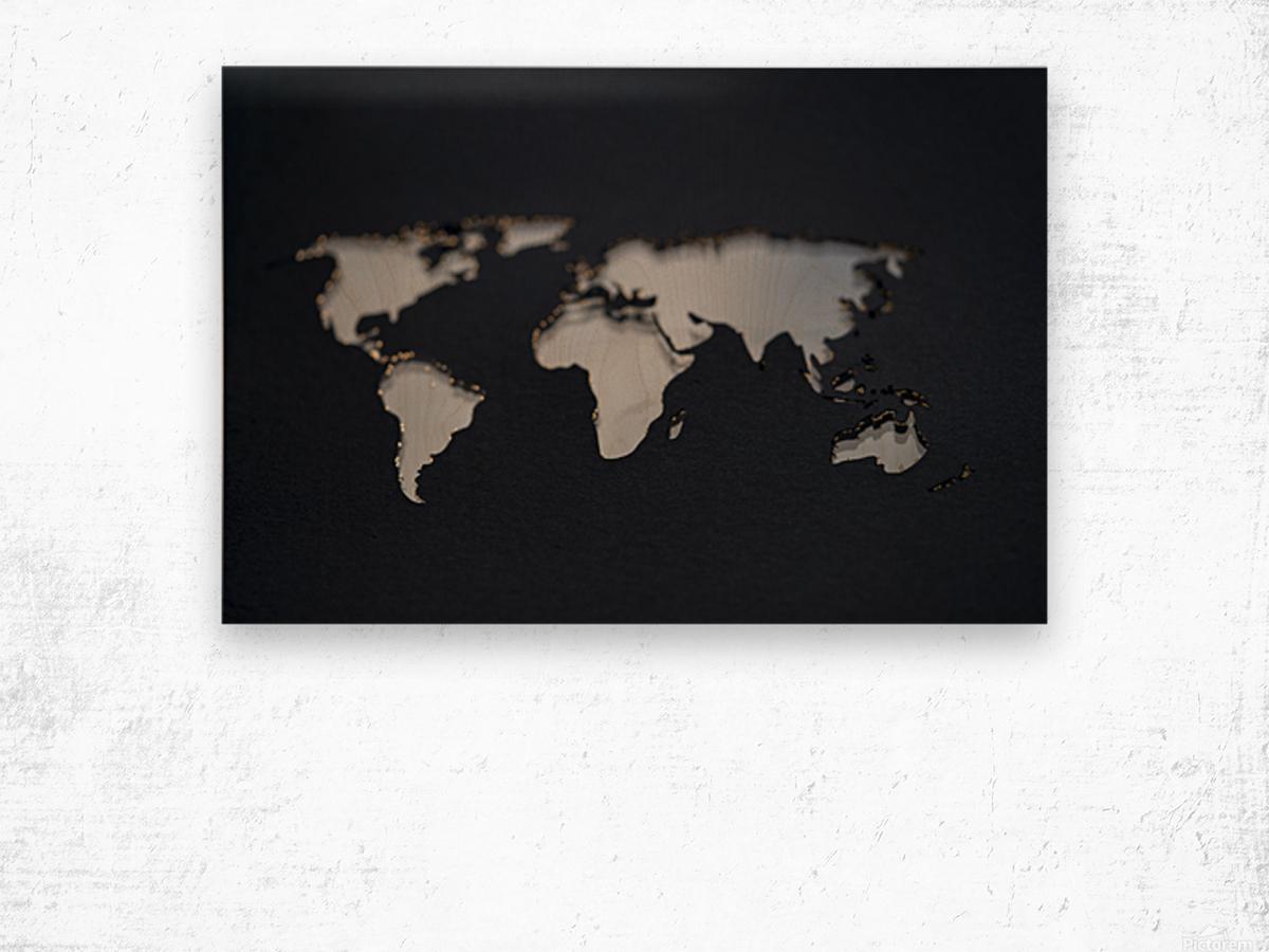Dark Continent GoGo Wood print