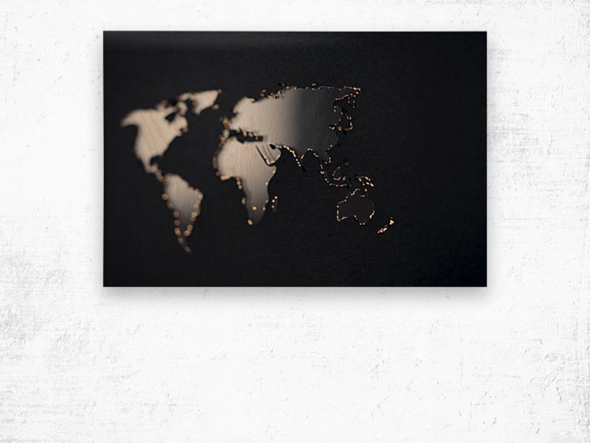 Dark Continent Fadana Wood print