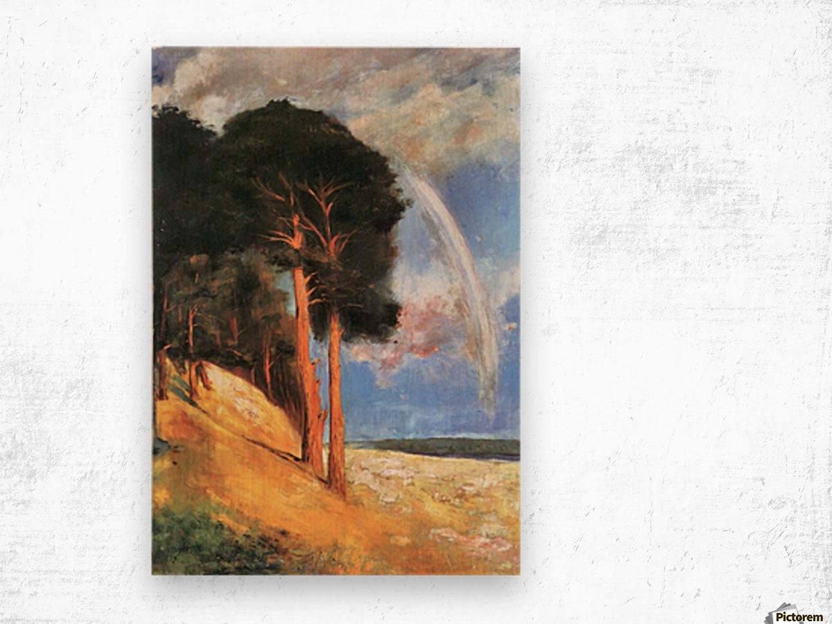 Landscape 2 by Lesser Ury Wood print