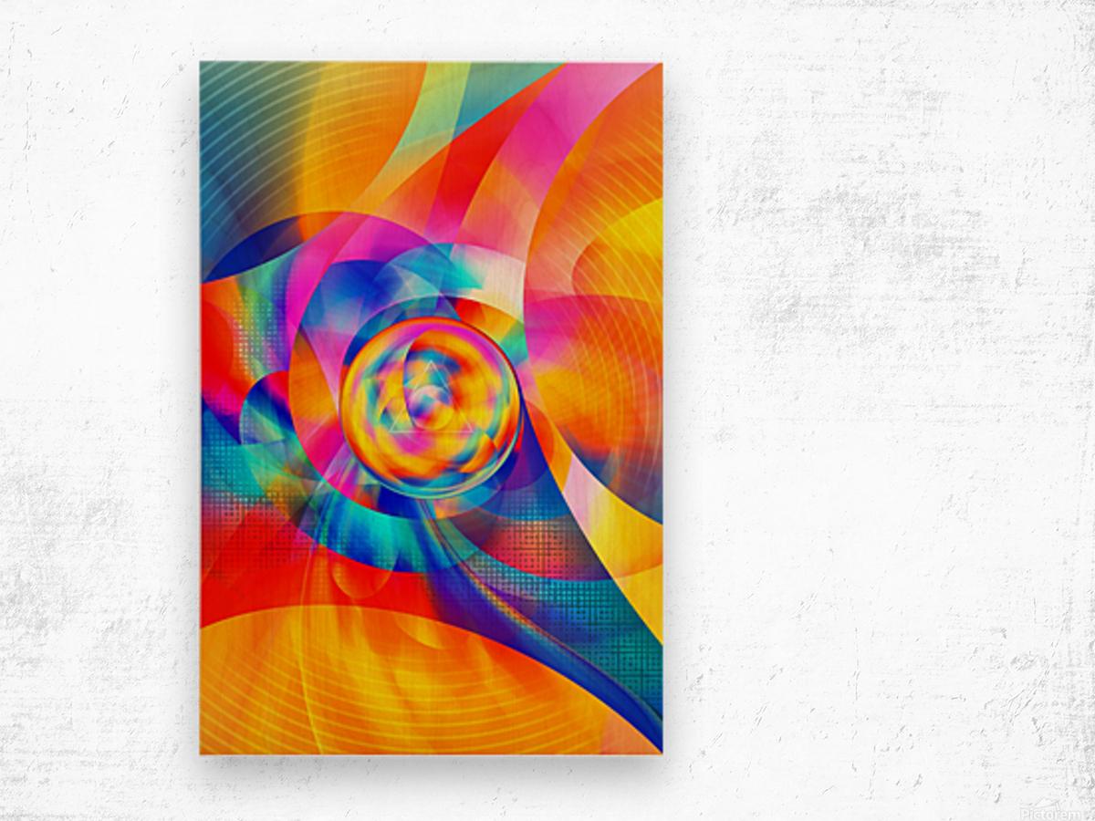 4th Dimension - Abstract Art XVI Wood print