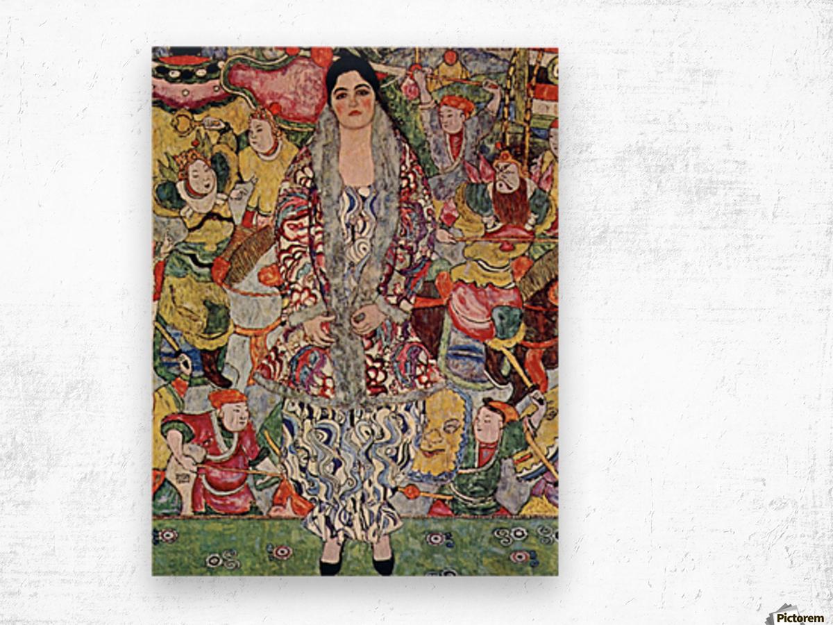 Portrait of Frederika Maria Beer by Klimt Wood print