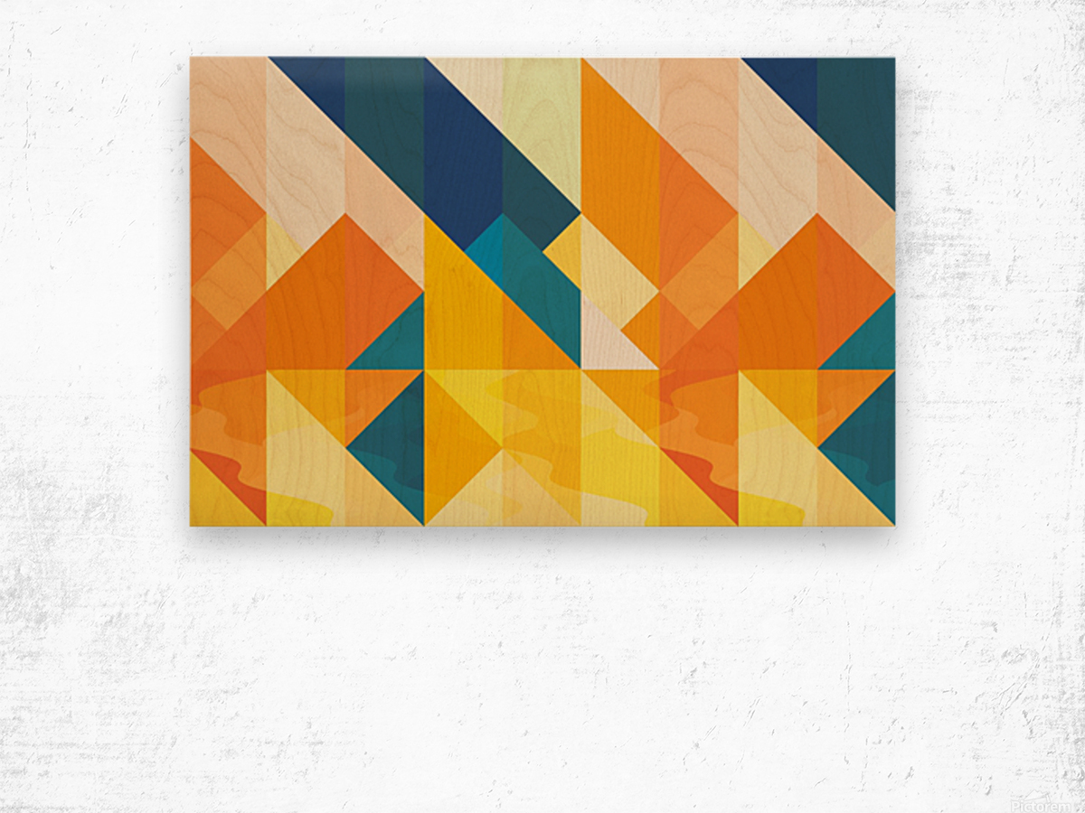 Geometric LI Wood print