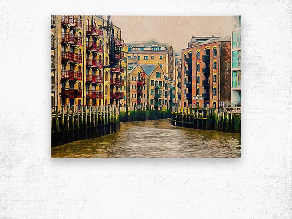 St Saviours Dock London Wood print