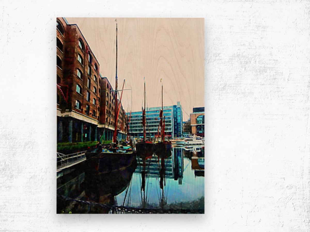 St Katharine Docks Boats 10 Wood print