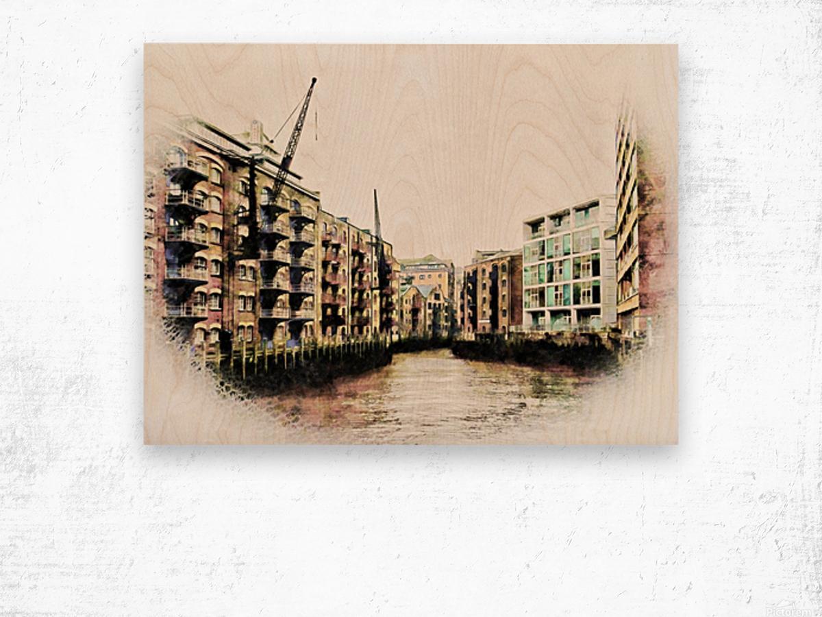 St Saviours Dock Bermondsey Wood print