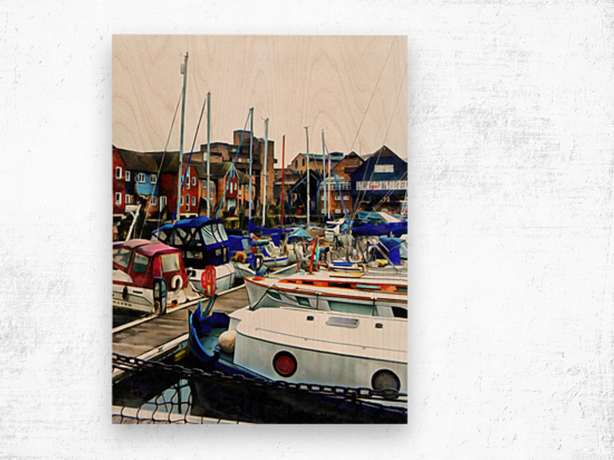 St Katharine Docks Boats 5 Wood print