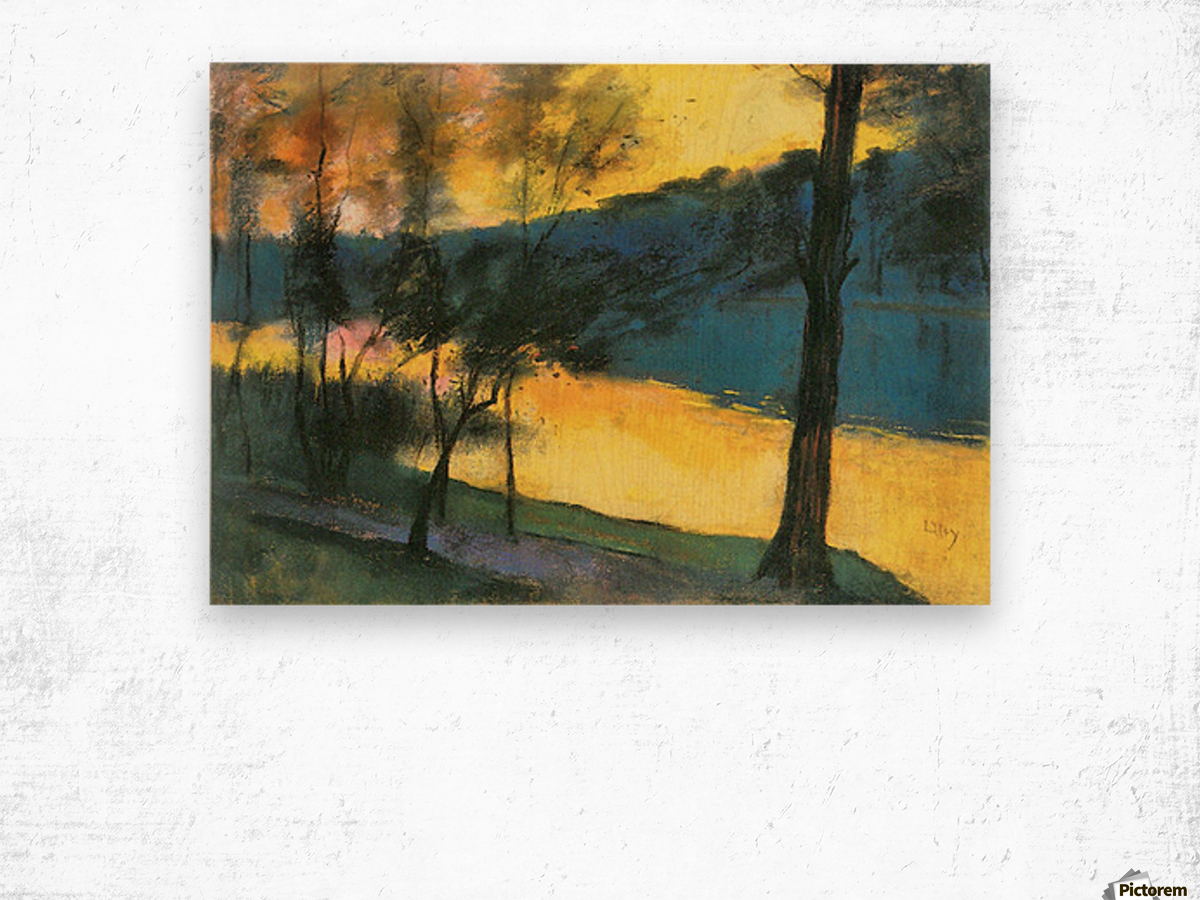 Landscape by Lesser Ury Wood print