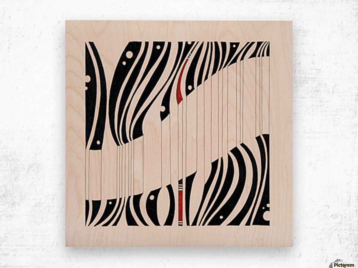 sentence number 14 Wood print