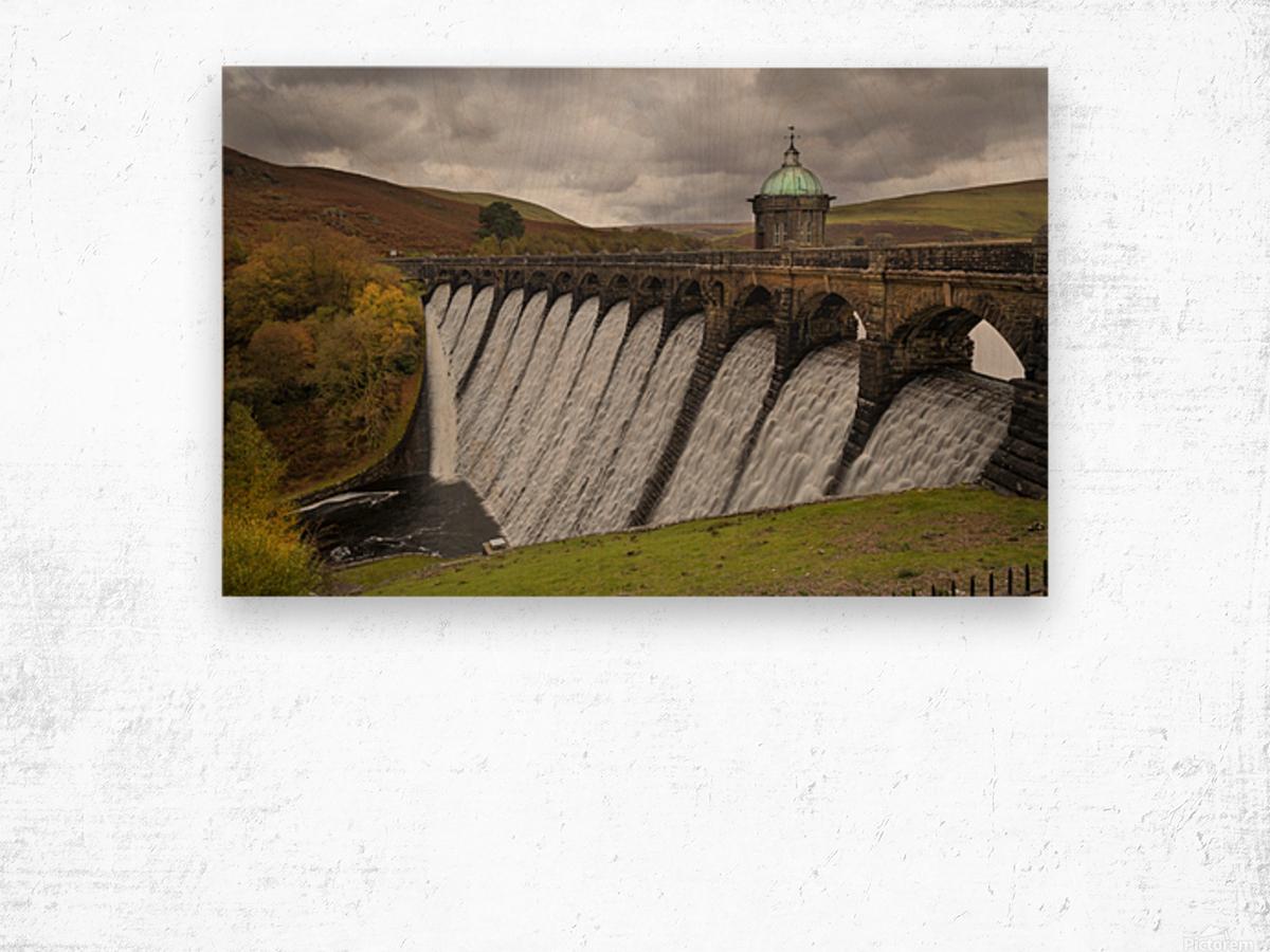 The dam at Craig Goch Wood print