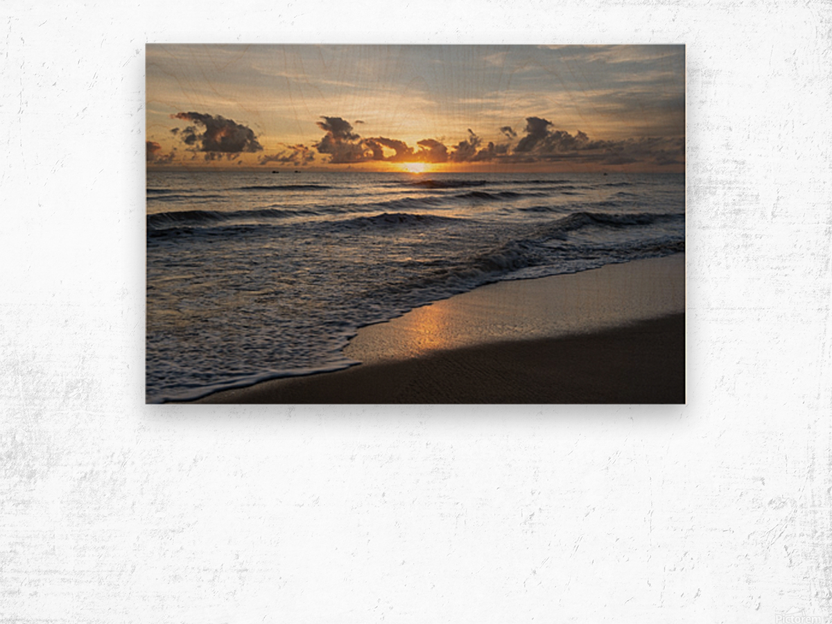 Sunrise Golden Wood print