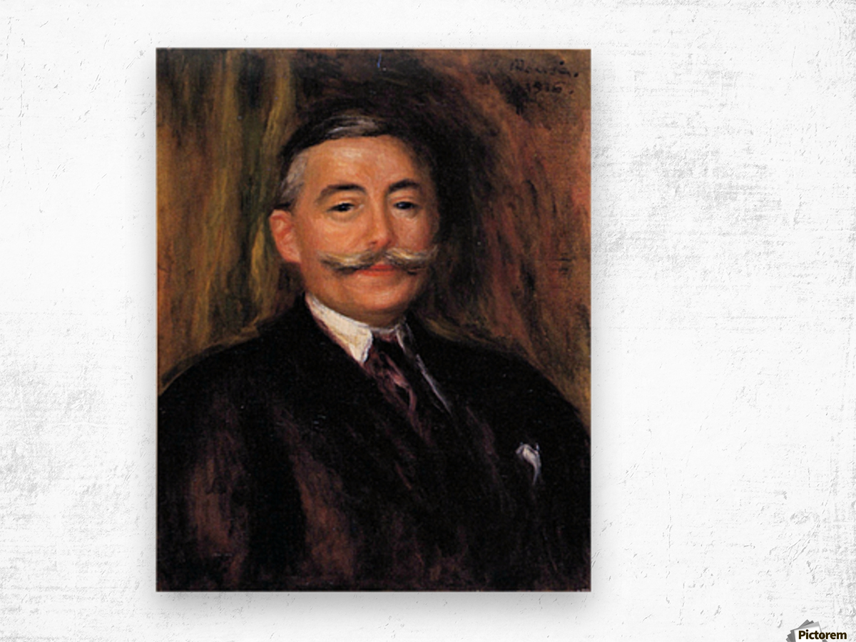 Portrait of Maurice Gangnat by Renoir Wood print