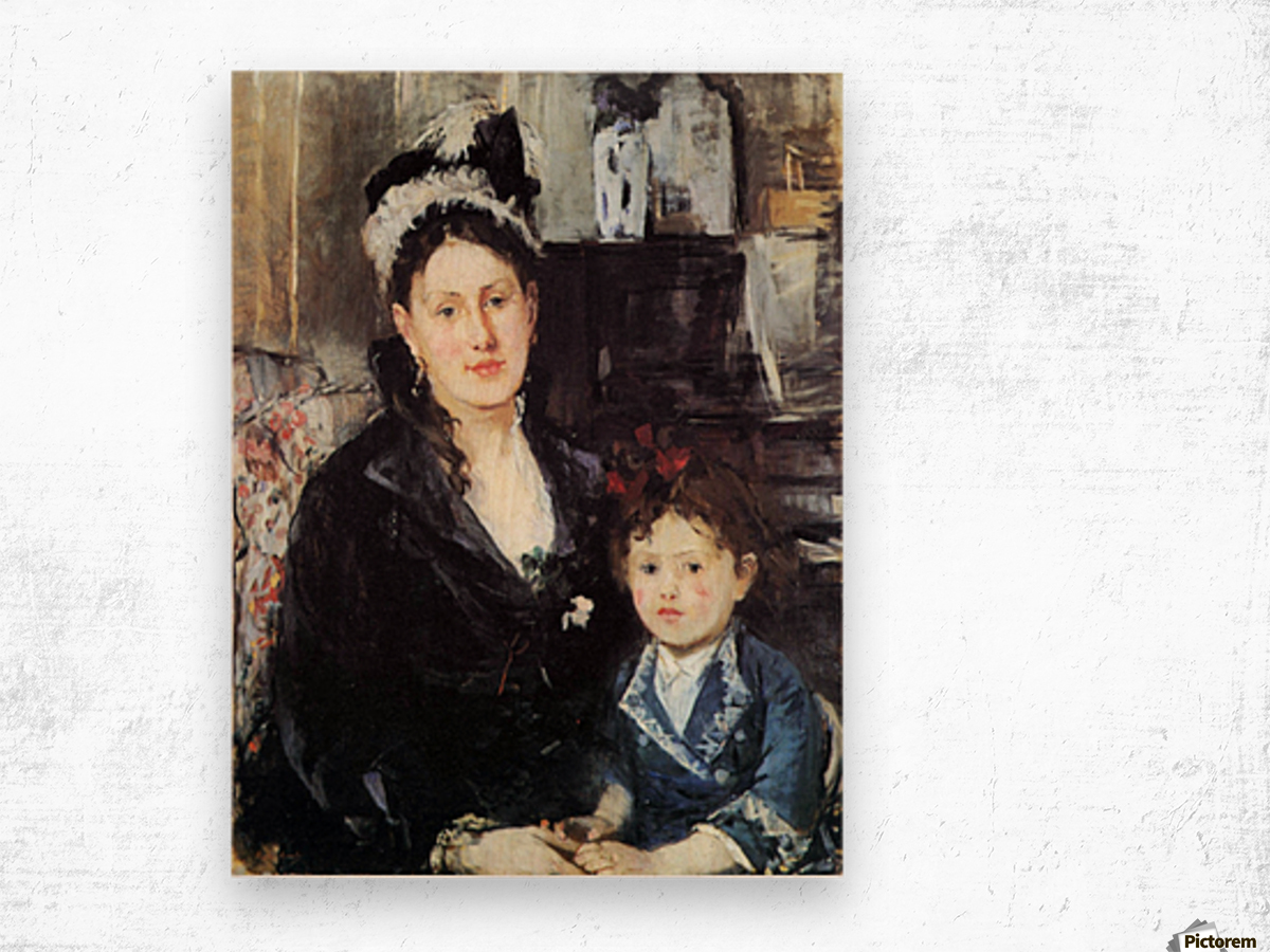 Portrait of Mme Boursier and Daughter by Morisot Wood print