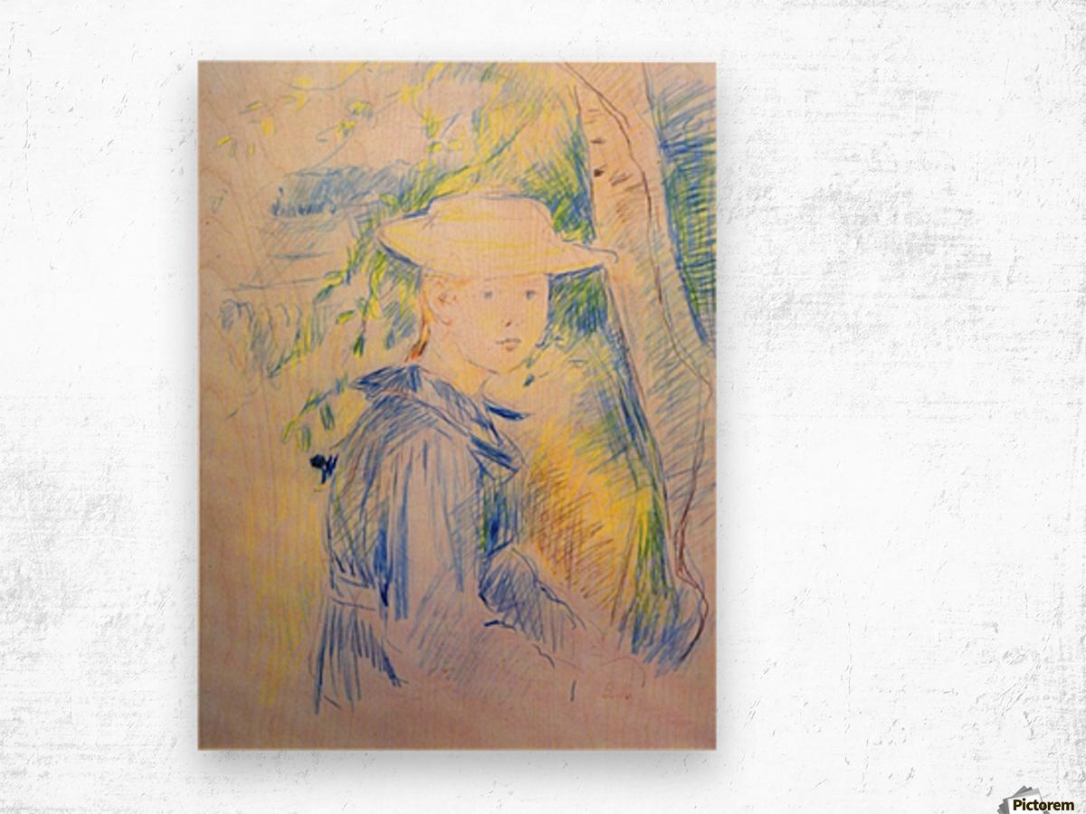 Portrait of Paule Gobillard by Morisot Wood print