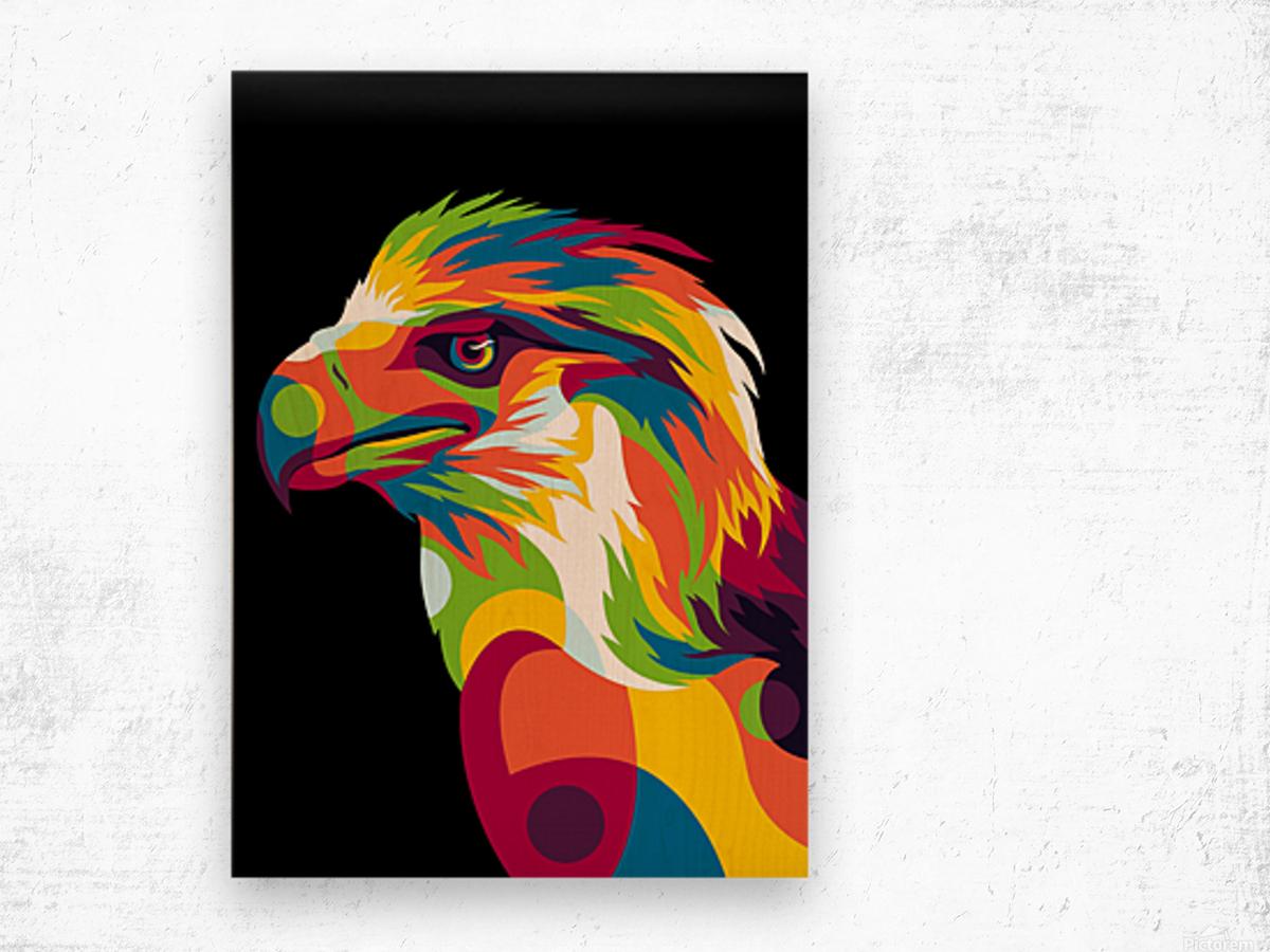 Philippine Eagle Illustration Wood print