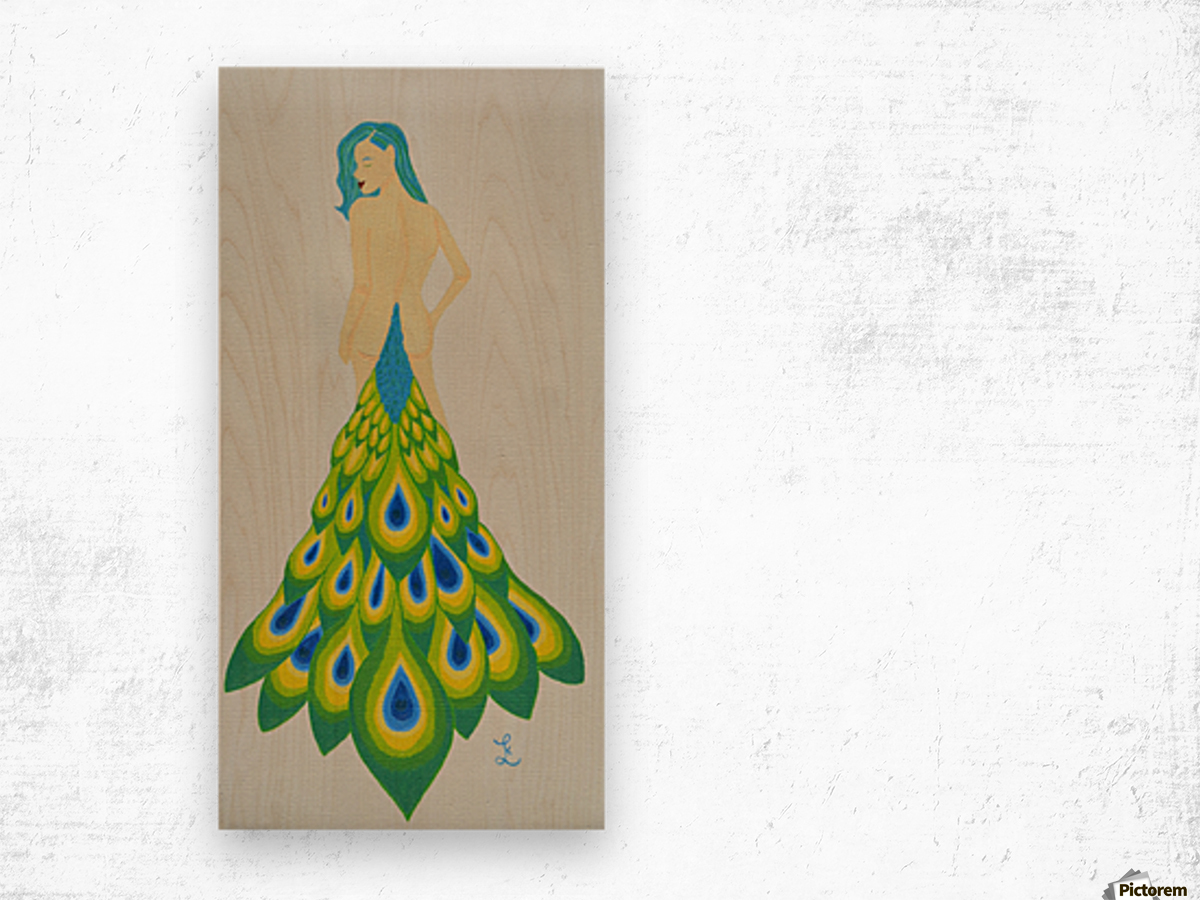 A Cheeky Introduction - First in the Peacock Princess Series Wood print