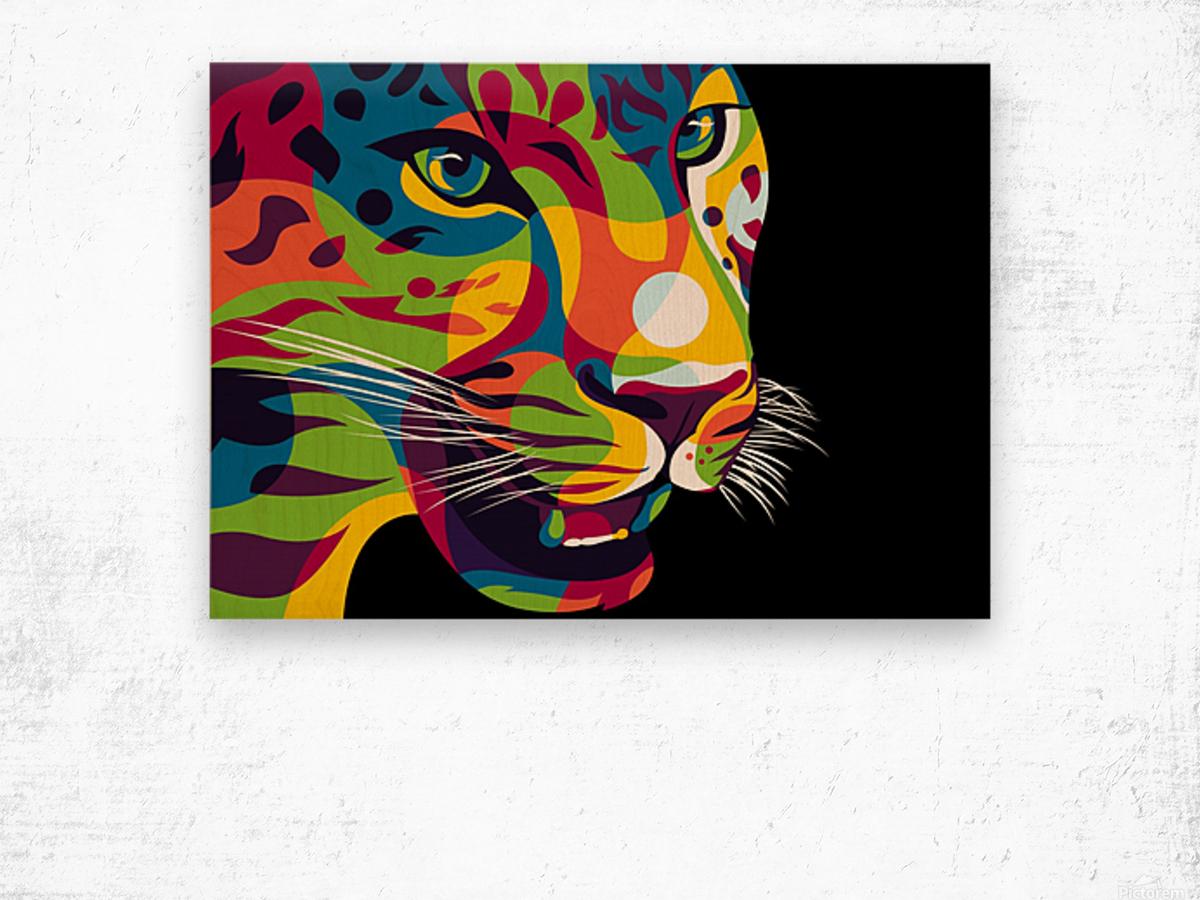 The Jaguar Gaze Wood print