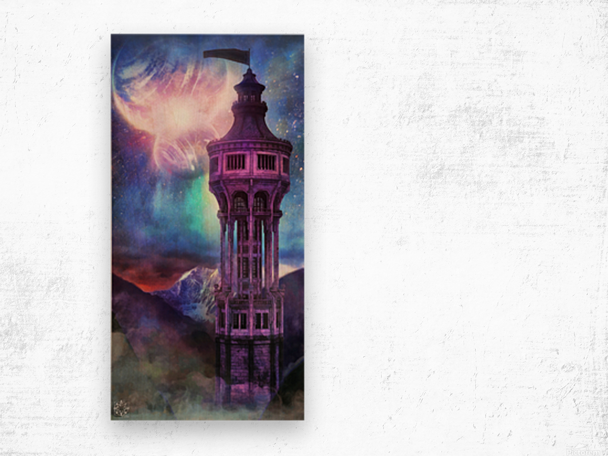 Interregnum Tower Wood print
