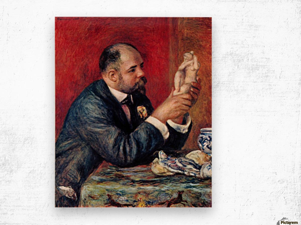 Portrait of Vollard by Renoir Wood print