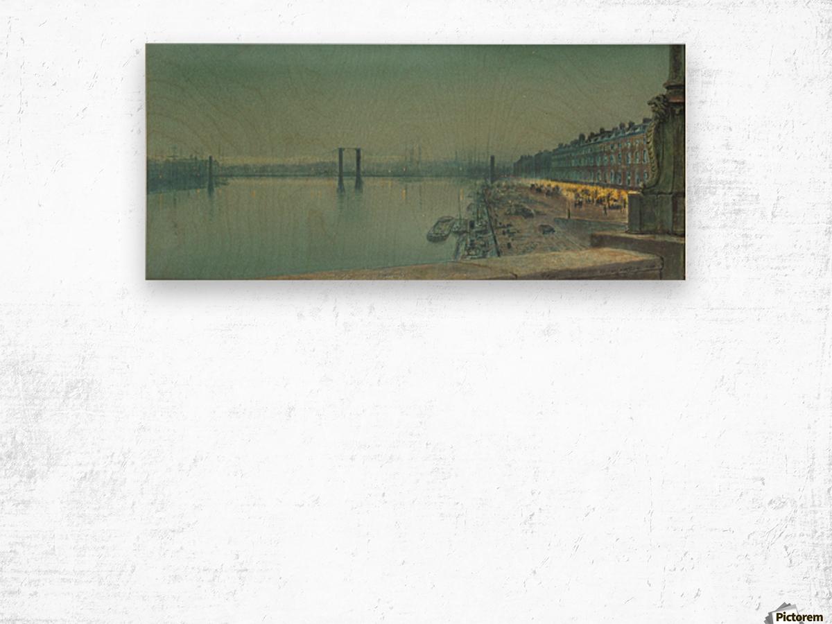 Quai de Paris Rouen Wood print