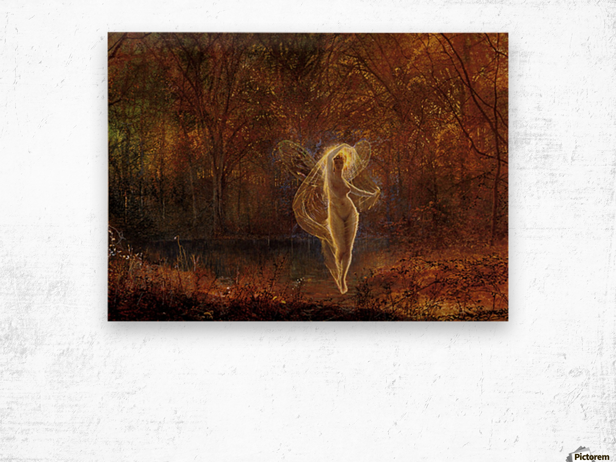 Dame Autumn has a mournful face Wood print