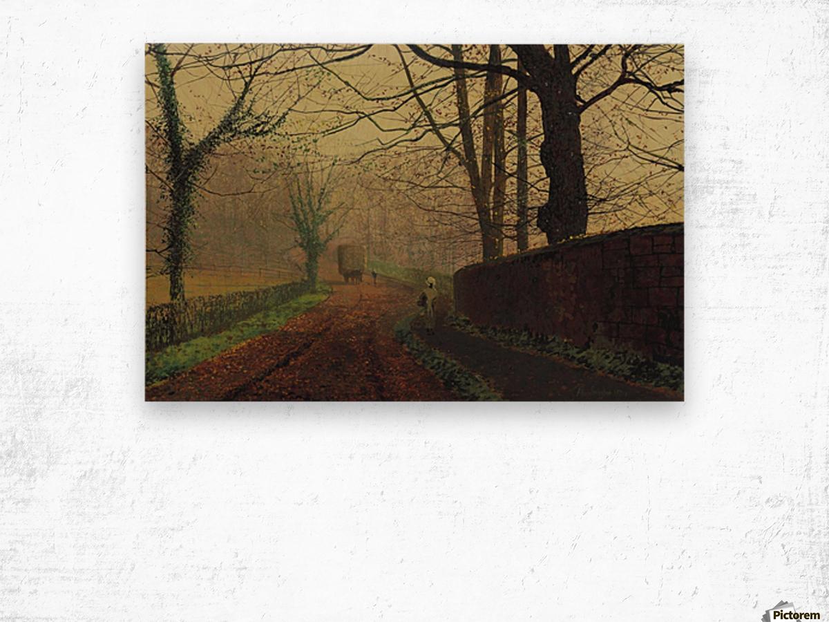 Stapleton Park, near Pontefract, Leeds Wood print