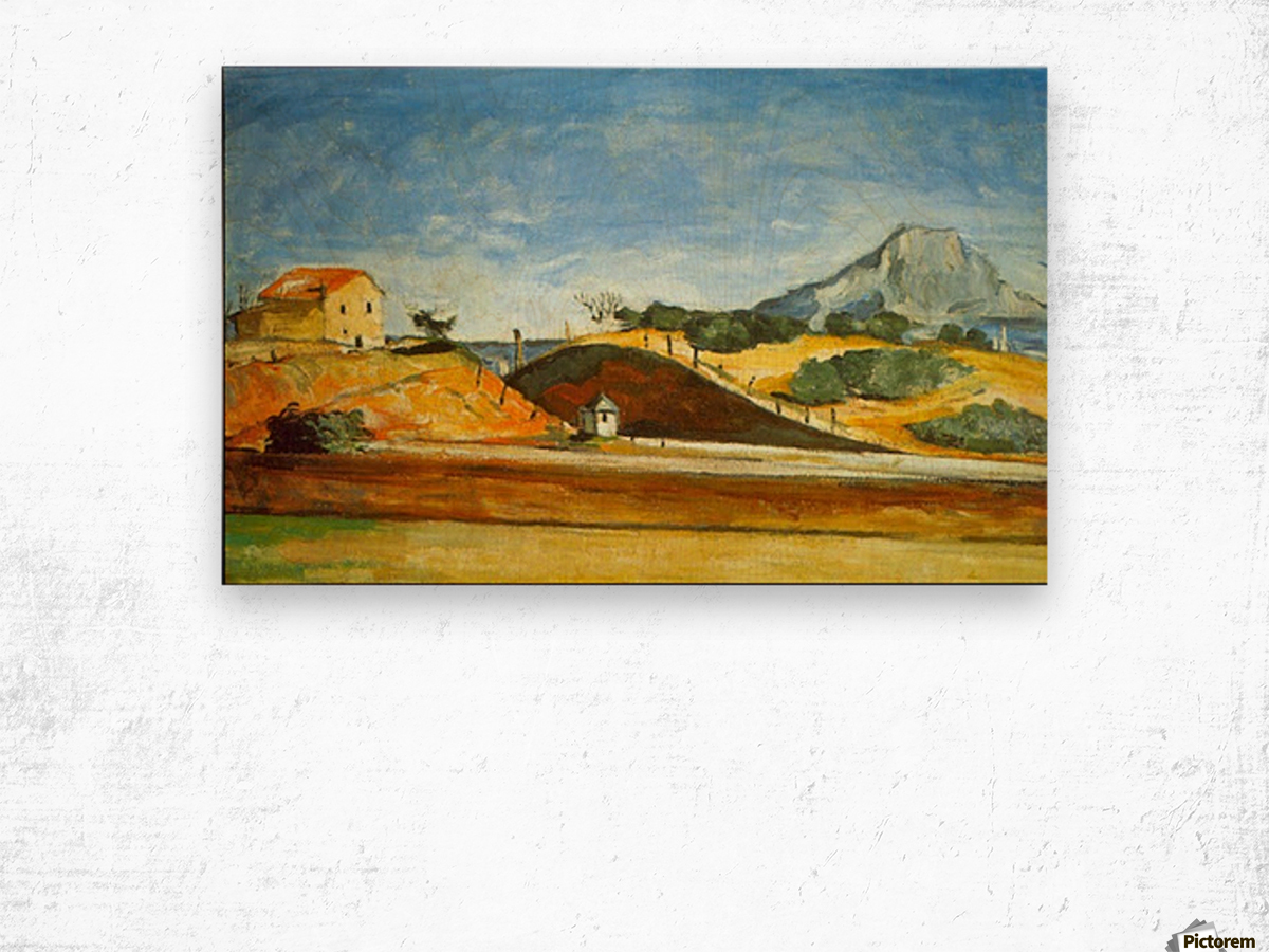 Railway Cutting by Cezanne Wood print