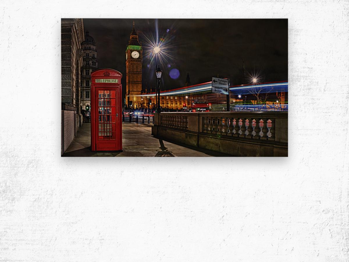 Red Phone Box Wood print