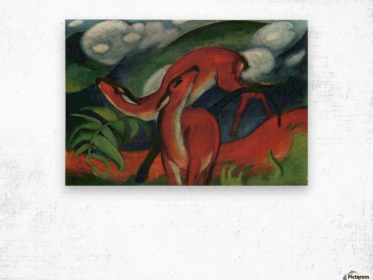 Red Deer II by Franz Marc Wood print