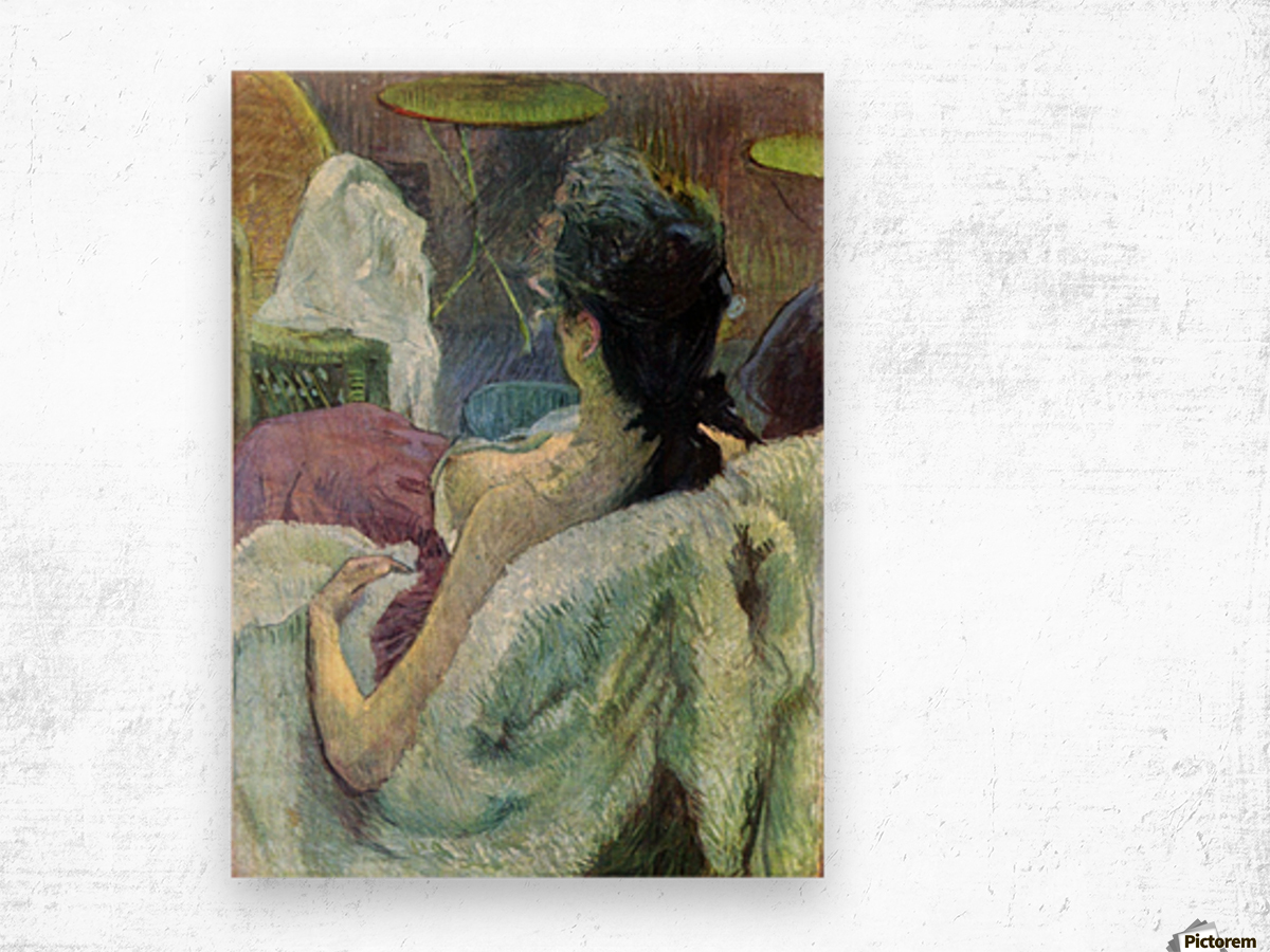 Resting Model by Toulouse-Lautrec Wood print