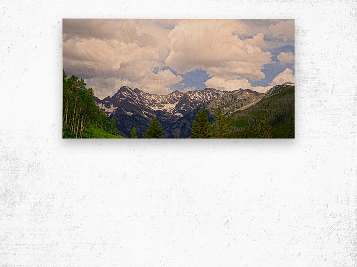 White River Country Colorado Wood print