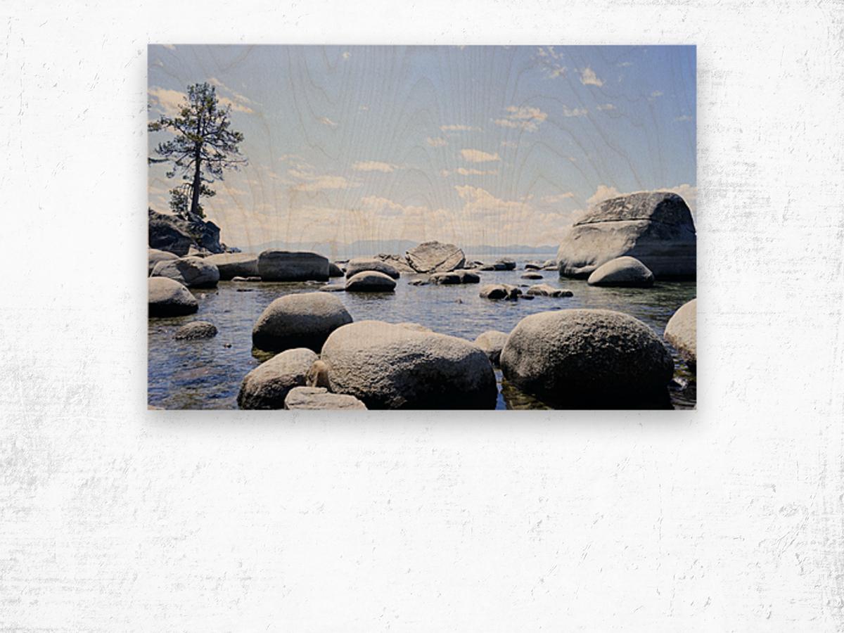 On the Lake - Tahoe California USA Wood print