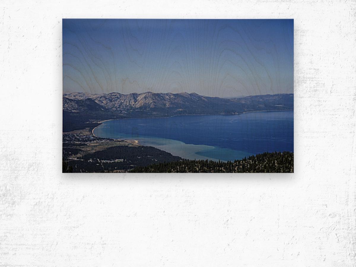 Lake Tahoe View - Tahoe California USA Wood print