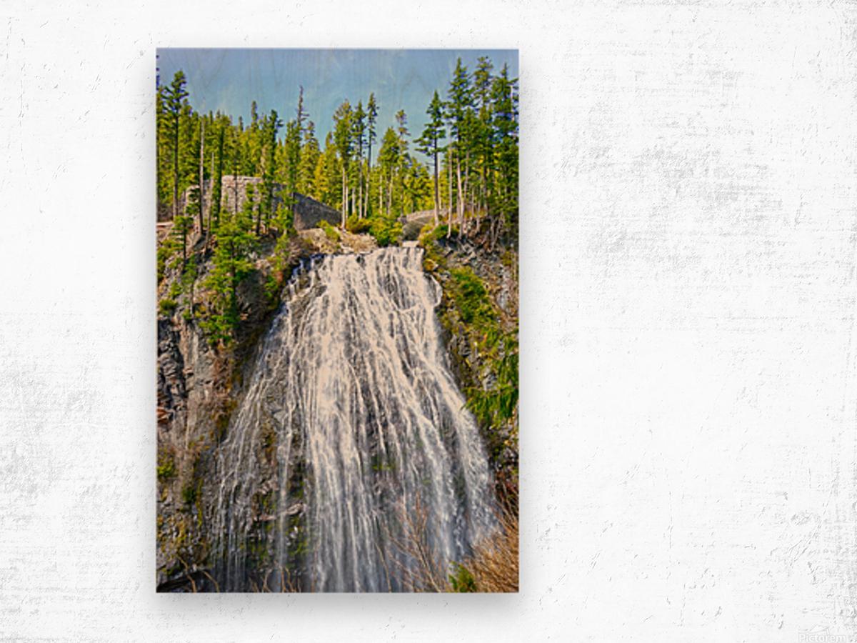 Northwest Waterfall Wood print