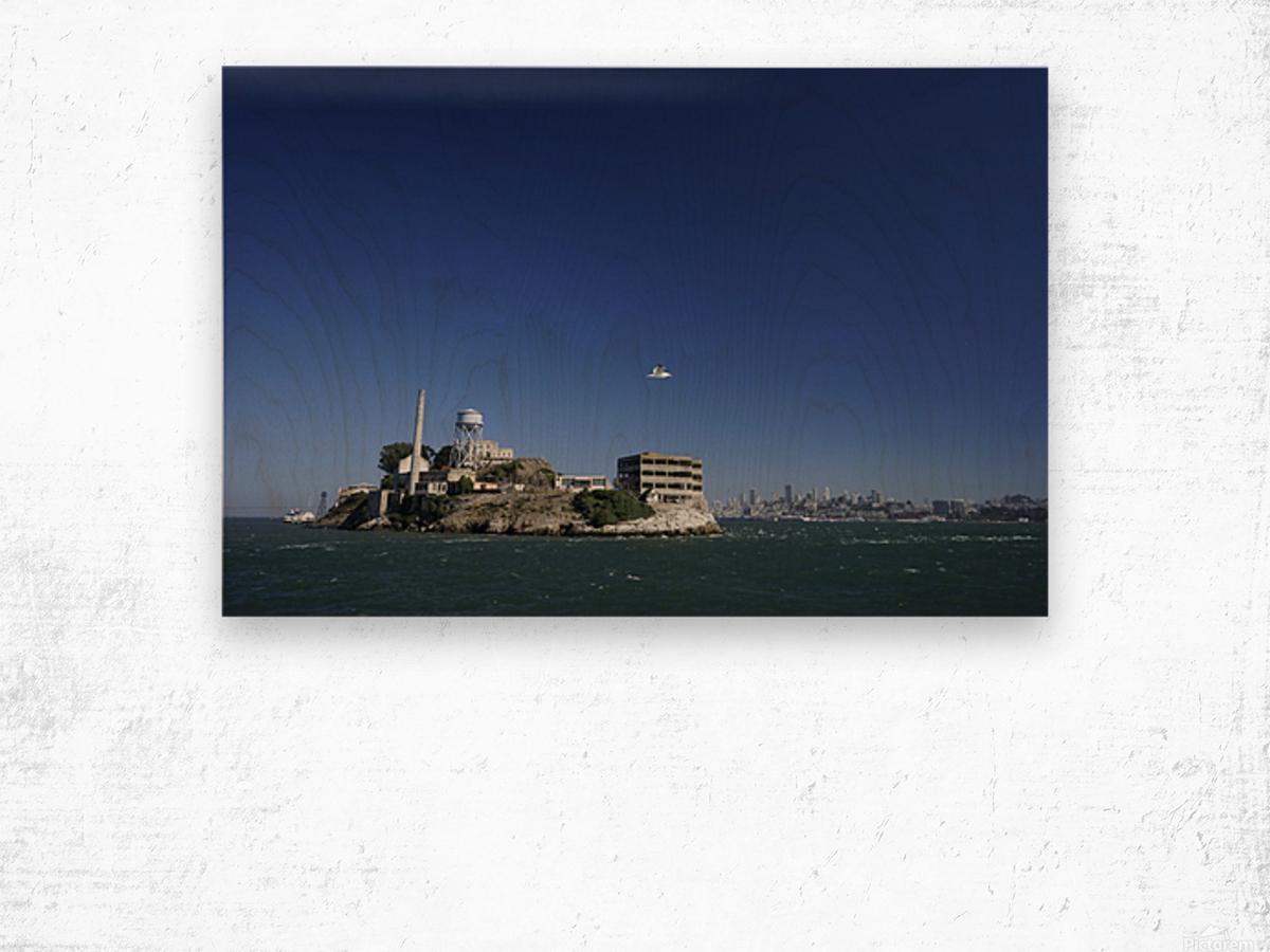 Alcatraz   The Rock @ San Francisco Bay Wood print