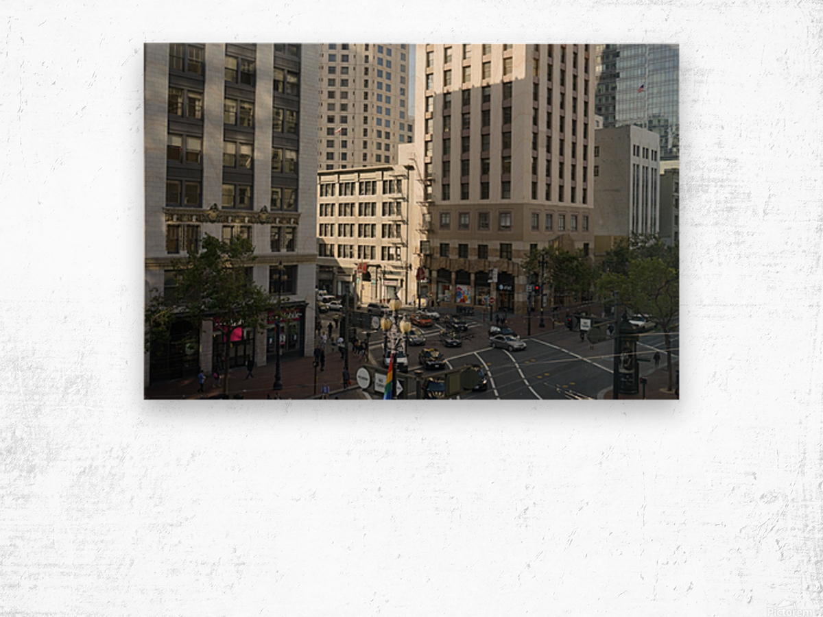 Snapshot in Time @ San Francisco Financial District Wood print