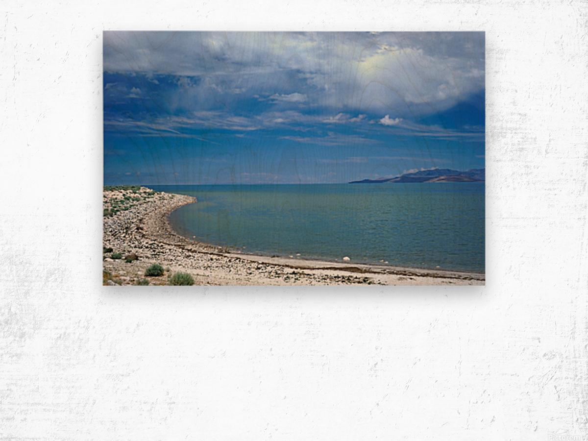The Great Salt Lake 6 of 7 Wood print
