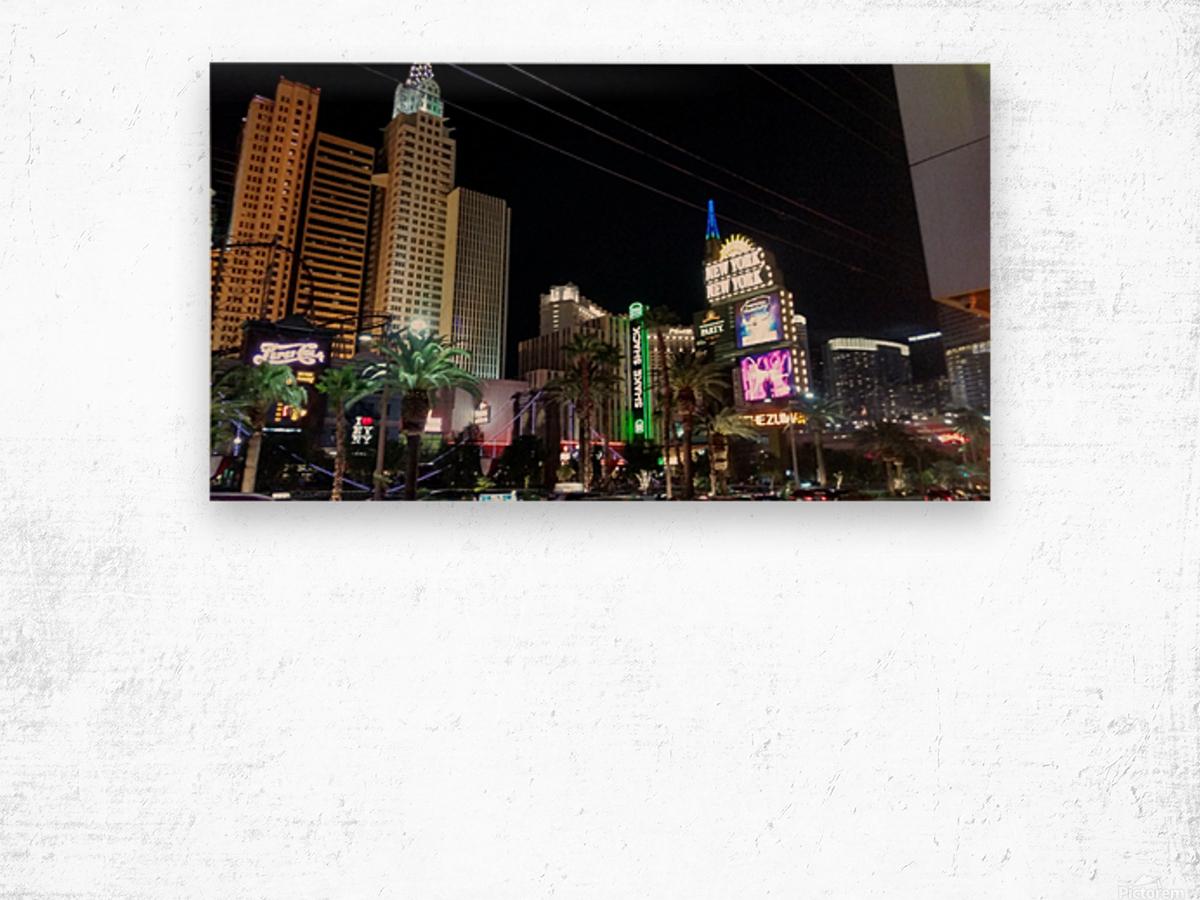Viva Las Vegas 2 Wood print