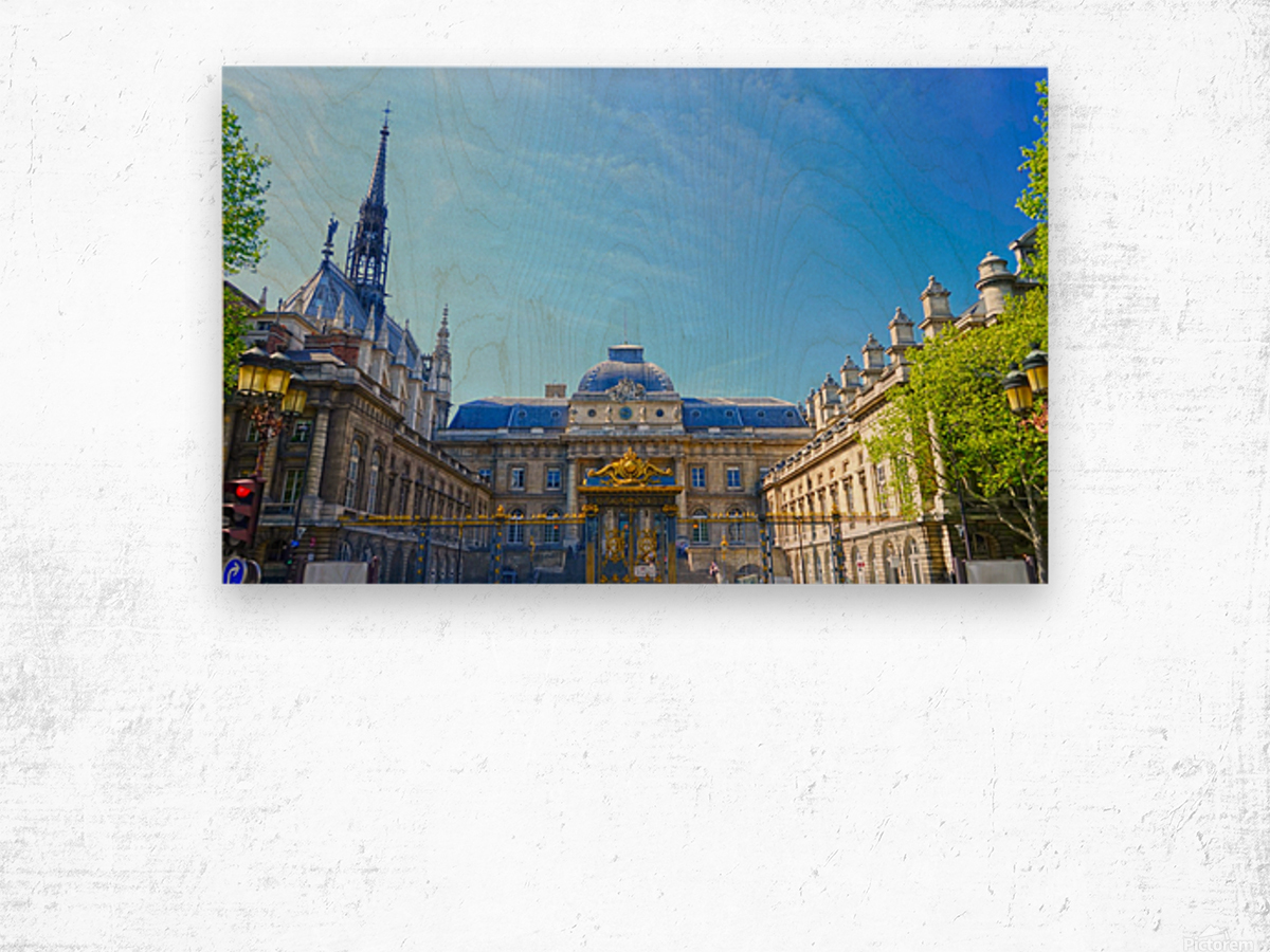 Paris Snapshot in Time 4 of 8 Wood print