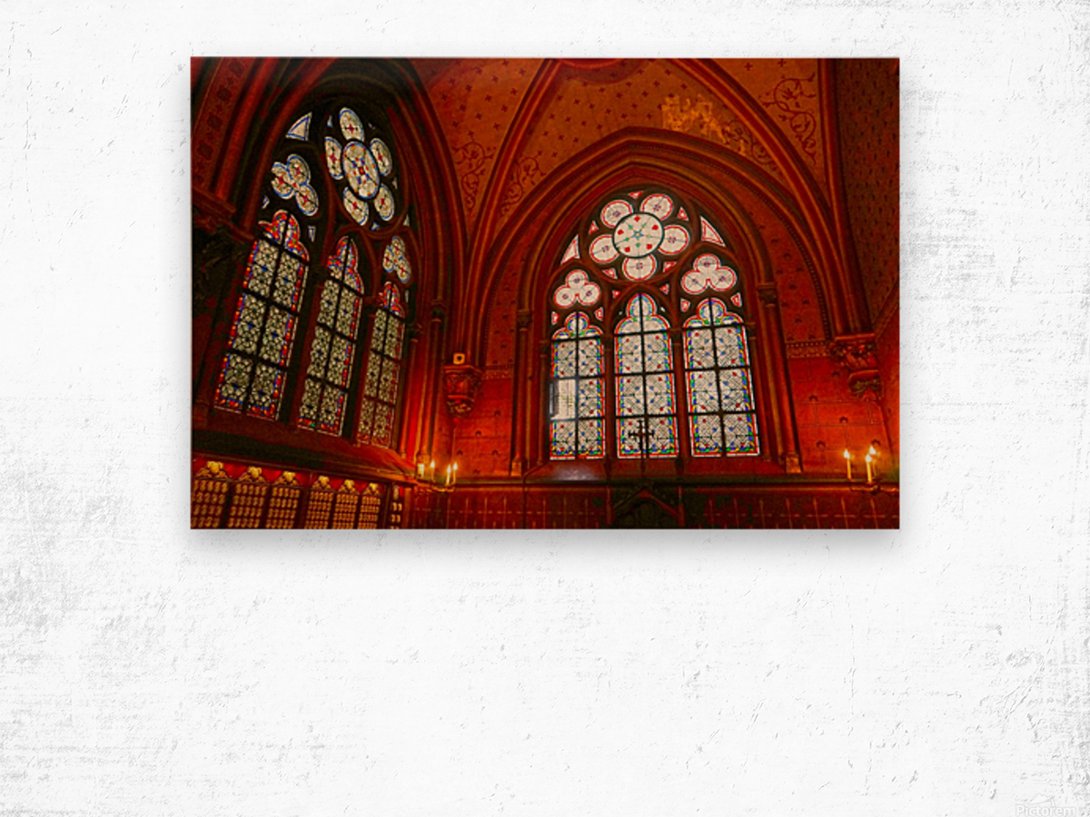 Jeanne d Arc and Saint Croix Cathedral at Orleans   France 6 of 7 Wood print