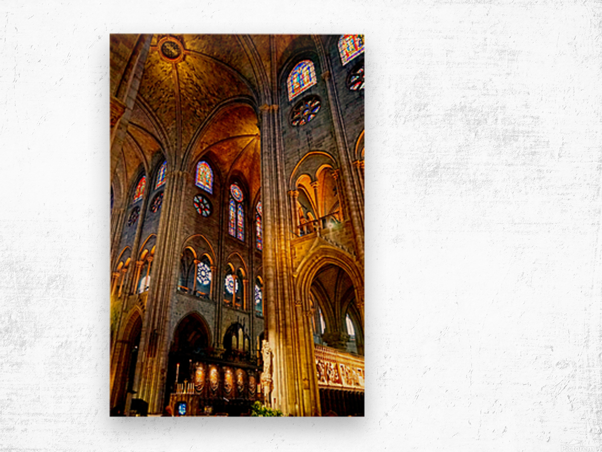 Jeanne d Arc and Saint Croix Cathedral at Orleans   France 3 of 7 Wood print