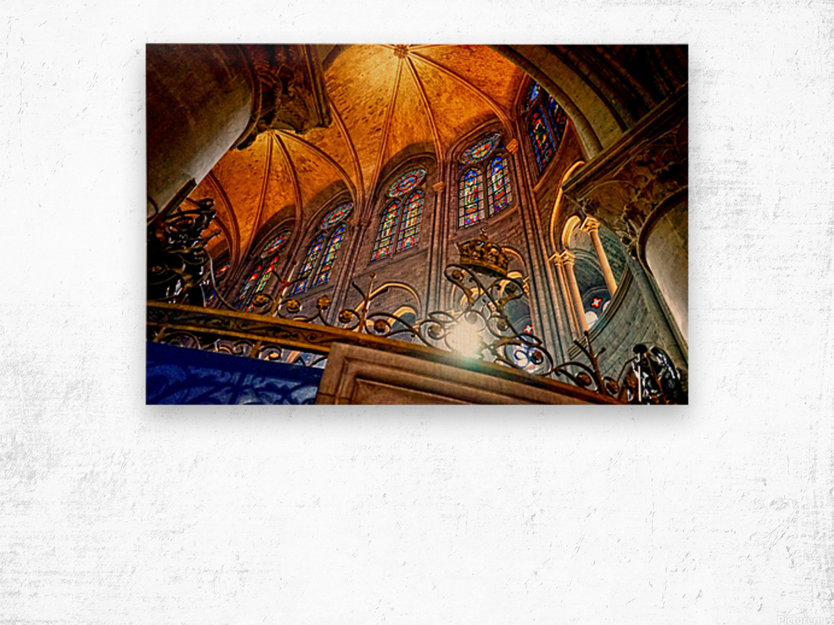 Jeanne d Arc and Saint Croix Cathedral at Orleans   France 7 of 7 Wood print