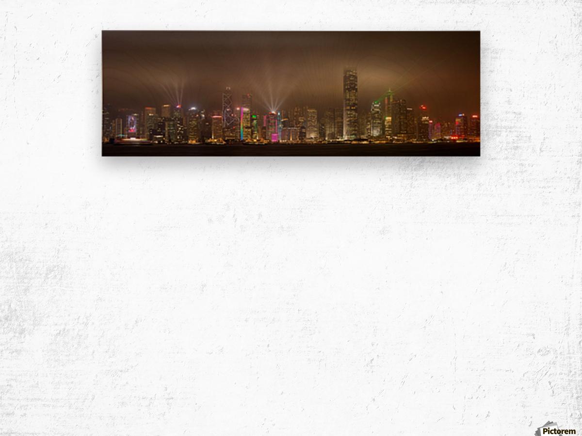 Hong Kong Island by Daniel Murphy  Wood print