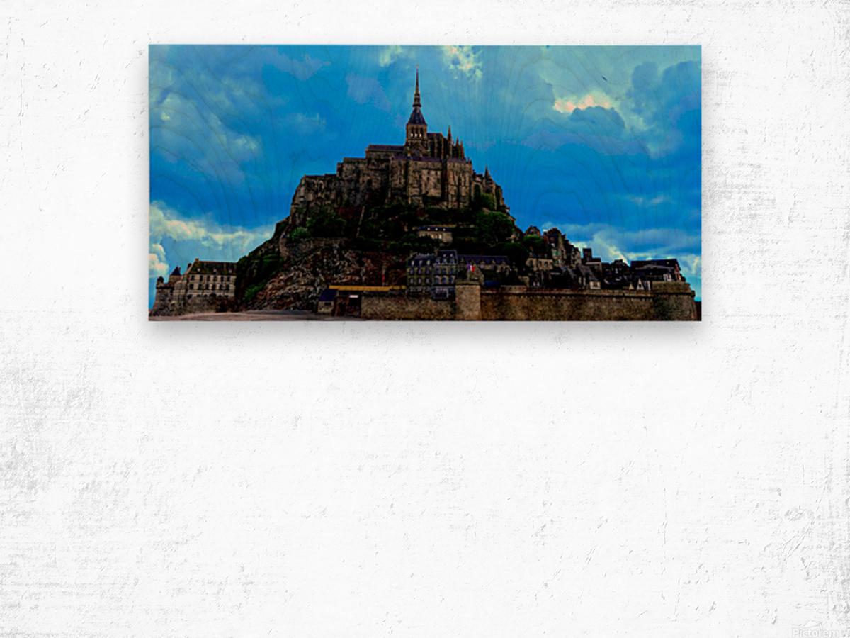 Mont St Michel Panorama Wood print