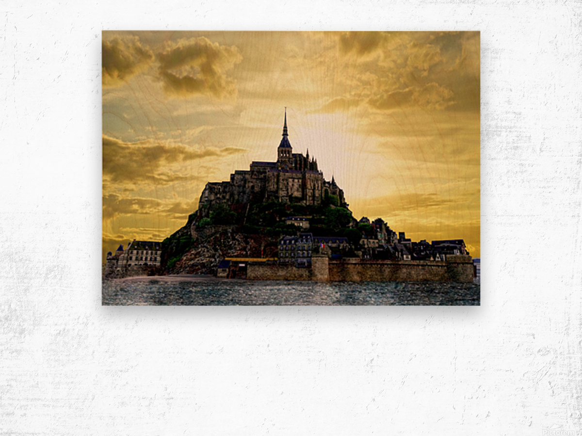 Golden Mont St Michel - Normandy France Wood print