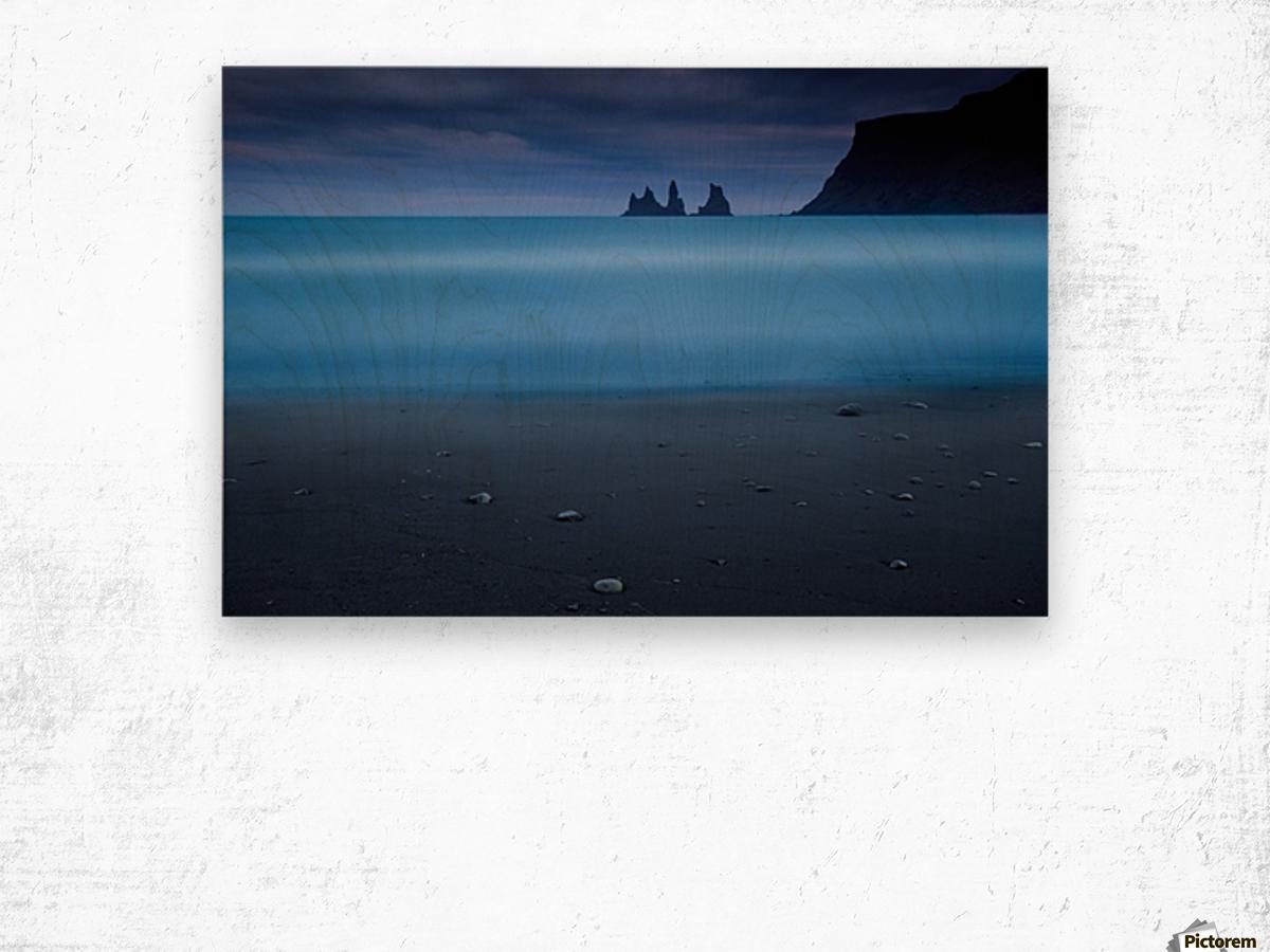 Blue night 2 Wood print